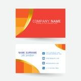 Vector современный простой светлый шаблон визитной карточки с плоским потребителем Стоковые Изображения
