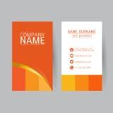 Vector современный простой светлый шаблон визитной карточки с плоским потребителем Стоковое Фото