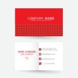 Vector современный простой светлый шаблон визитной карточки с плоским потребителем Стоковая Фотография RF