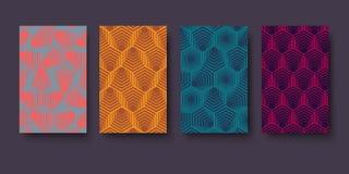 Vector современный шестиугольник картины геометрии, предпосылка конспекта геометрическая, ультрамодная печать, monochrome ретро т иллюстрация штока