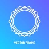 Vector стиль цветного барьера рамки белый изолированный на голубой предпосылке Стоковая Фотография