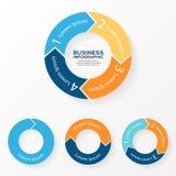 Vector стрелки infographic 1 круга, 2, 3, 4 бесплатная иллюстрация