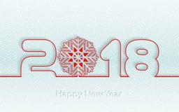 Vector счастливая предпосылка 2017 Нового Года с бумажными вырезываниями Стоковые Фото