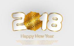 Vector счастливая предпосылка 2017 Нового Года с бумажными вырезываниями Стоковая Фотография RF
