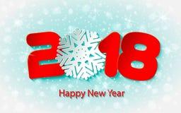 Vector счастливая предпосылка 2017 Нового Года с бумажными вырезываниями Стоковое Фото