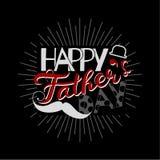 Vector счастливая концепция поздравительной открытки дня ` s отца, ребяческий стиль Стоковое Изображение RF