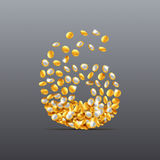 Vector 6 сделал характера завалки монеток Легко для того чтобы редактировать Стоковое Изображение RF