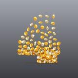 Vector 4 сделал характера завалки монеток Легко для того чтобы редактировать Стоковая Фотография