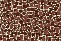 Vector текстура стены плиток коричневого цвета 2 покрашенной несимметричной декоративной иллюстрация штока