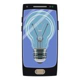 Vector умный значок идеи телефона в плоском стиле Стоковое Фото