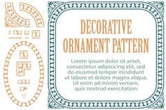 Vector цветки элемента для дизайна, создавая границы, рамки и предпосылки 3 включенной щетки Стоковые Изображения