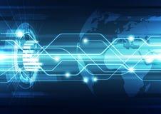 Vector цифровая глобальная концепция технологии, абстрактная предпосылка Стоковая Фотография RF