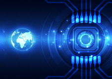 Vector цифровая глобальная концепция технологии, абстрактная предпосылка Стоковое фото RF