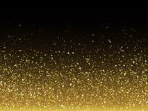 Vector частицы яркого блеска золота с сверкная текстурой звезды Стоковое Изображение RF