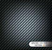 Vector чернота волокна углерода картины безшовная под маской для продукции фильма с текстурой Стоковая Фотография