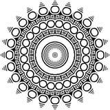 Vector черно-белая округленная предпосылка картины, иллюстрация вектора Стоковое Изображение