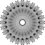Vector черно-белая округленная предпосылка картины, иллюстрация вектора Стоковое Изображение RF