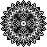 Vector черно-белая округленная предпосылка картины, иллюстрация вектора Стоковые Изображения RF