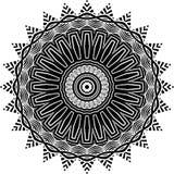 Vector черно-белая округленная предпосылка картины, иллюстрация вектора Стоковые Изображения