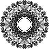 Vector черно-белая округленная предпосылка картины, иллюстрация вектора Стоковые Фотографии RF