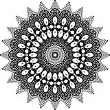 Vector черно-белая округленная предпосылка картины, иллюстрация вектора Стоковая Фотография RF