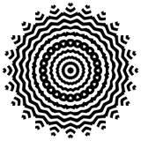 Vector черно-белая округленная предпосылка картины, иллюстрация вектора Стоковые Фото
