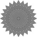 Vector черно-белая округленная предпосылка картины, иллюстрация вектора Стоковое Фото