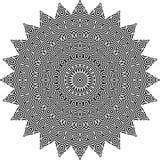 Vector черно-белая округленная предпосылка картины, иллюстрация вектора Стоковая Фотография