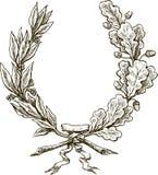 Ветви лавра и дуба Стоковое Фото
