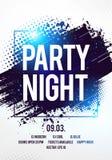 Vector шаблон события танцев рогульки ночи партии диско клуба иллюстрации с красочной предпосылкой иллюстрация вектора