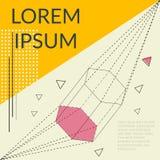 Vector шаблон современного дизайна для брошюры, плаката или визитной карточки с линией геометрией Стоковое Фото