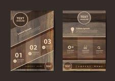 Vector шаблон плана дизайна рогульки брошюры дела в размере A4 Стоковые Изображения