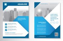 Vector шаблон плана дизайна рогульки брошюры, размер A4, титульный лист и задняя страница, infographics Легко для использования и Стоковые Изображения