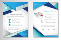 Vector шаблон плана дизайна рогульки брошюры, размер A4, титульный лист и задняя страница, infographics Легко для использования и Стоковая Фотография RF
