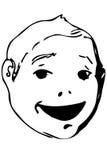 Vector эскиз красивой стороны усмехаясь ребенка Стоковое фото RF