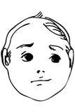 Vector эскиз красивой стороны усмехаясь ребенка Стоковое Фото