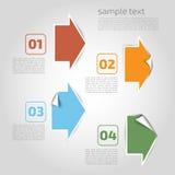 Vector элементы infographics - пункты, график для desi дела Стоковые Изображения