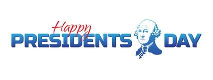 Vector ярлык, логотип или знамя к счастливым президентам Дню - национальному американскому празднику Иллюстрация вектора изолиров иллюстрация вектора