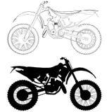 Vector 01 de la bici del motocrós Imágenes de archivo libres de regalías