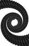Vector 01 de la escalera de la curva de la hélice stock de ilustración