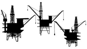 Vector 01 de la plataforma de la perforación petrolífera ilustración del vector
