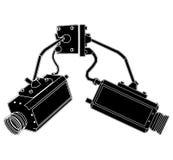 Vector 01 de las cámaras de seguridad Imagen de archivo libre de regalías