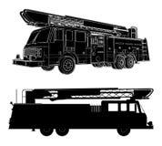 Vector 01 del coche de bomberos Imagen de archivo