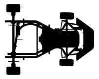 Vector 01 del coche de Karting Imagen de archivo