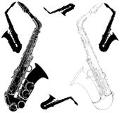 Vector 01 del saxofón Fotografía de archivo libre de regalías