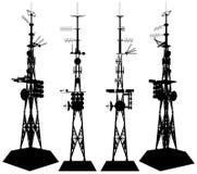 Vector 01 telecommunicatie van de Toren stock illustratie