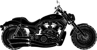 Vector 01 van de motorfiets royalty-vrije stock afbeelding