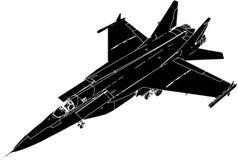 Vector 01 van het Perspectief van de Vliegtuigen van het detail Militaire stock illustratie