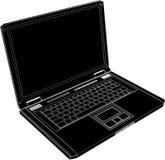 Vector 02 de la computadora portátil del ordenador Imagen de archivo libre de regalías