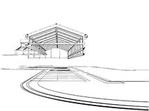 Vector 02 de la construcción de la azotea ilustración del vector